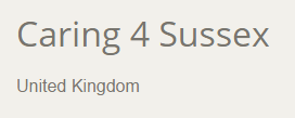 Caring 4 Sussex Web Site