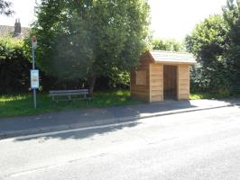 The first of the two new bus shelters for Findon Valley