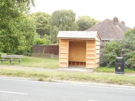 The second new bus shelter on the A24 Findon Road.