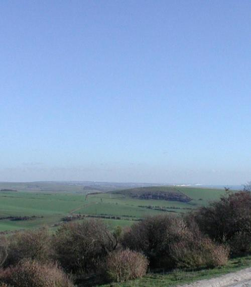 View from Cissbury Ring, Seven Sisters in the distance - Nov 2010 (RH)