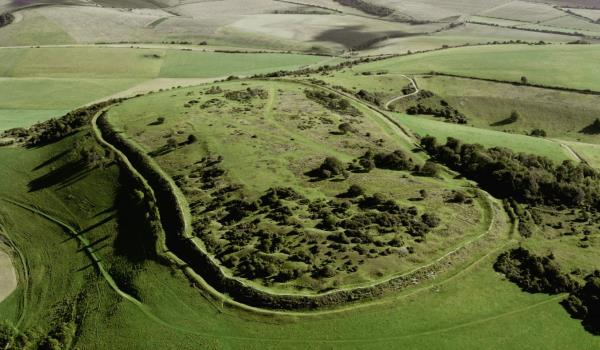 Cissbury Ring Aerial View