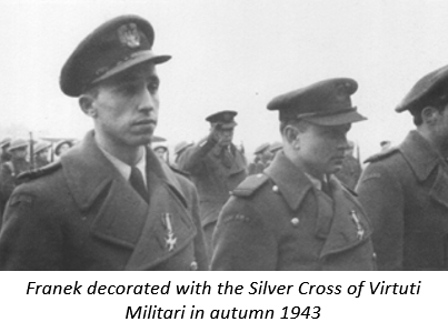 Franek decorated with the Silver Cross of Virtuti Militari in autumn 1943