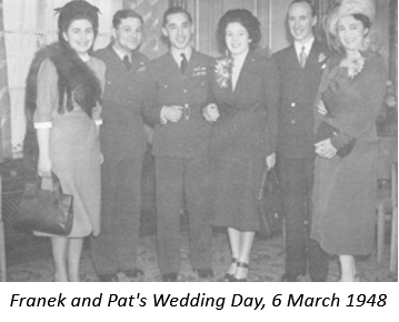 Franek and Pat's Wedding Day, 6 March 1948